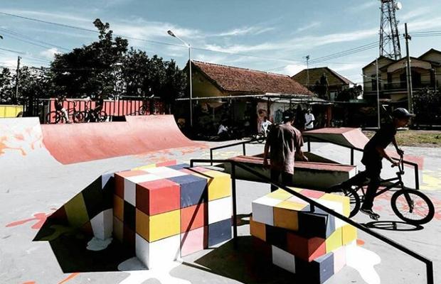 Hiburan Foto Skatepark Keren Bukan Luar Negeri Tapi Areal Taman