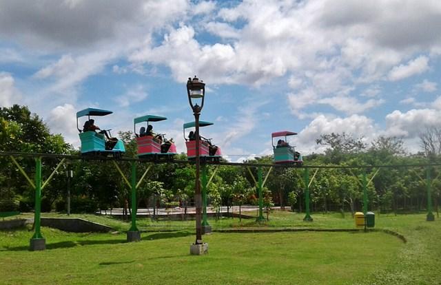 Serunya Wahana Skybike Taman Singha Merjosari Malang Cendana News Bagi