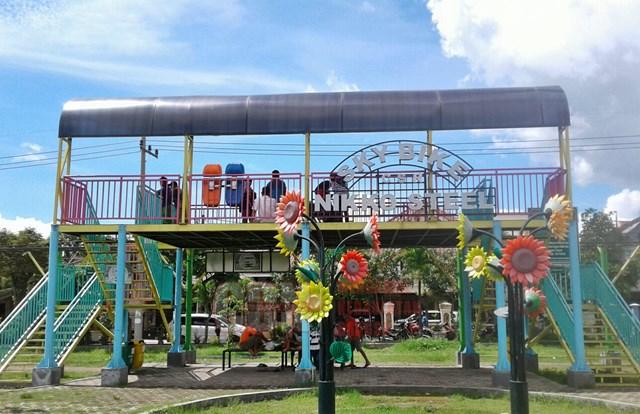 Serunya Wahana Skybike Taman Singha Merjosari Malang Cendana News Stasiun