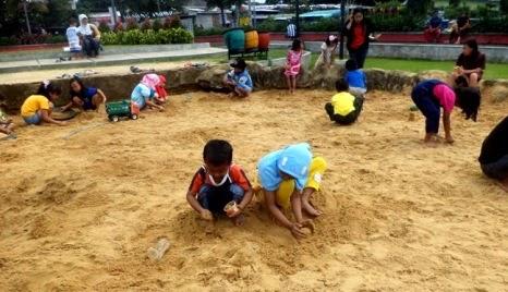 Taman Singha Merjosari Kota Malang Wongcrewchild Fasiltas Hamparan Pasir Pantai