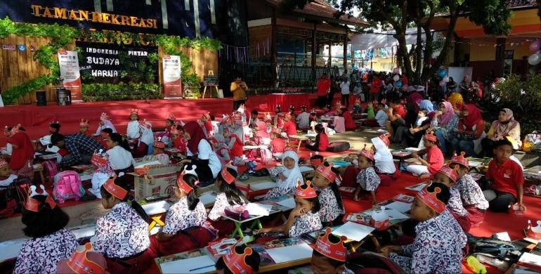 Taman Rekreasi Sengkaling Umm Gratis Ratusan Siswa Serbu Lomba Menggambar