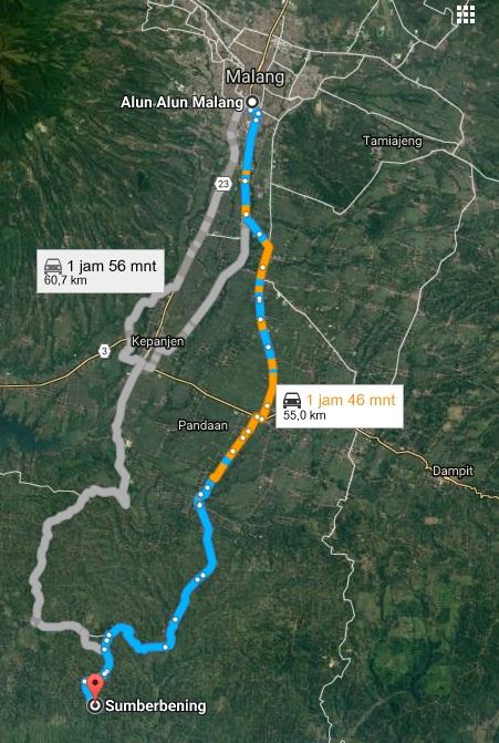 Facebook Maps Arah Alun Kota Malang Teluk Bidadari Bantur Kabupaten