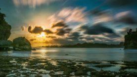 Pesona Teluk Bidadari Malang Amazing Menikmati Hangatnya Senja Pantai Batu