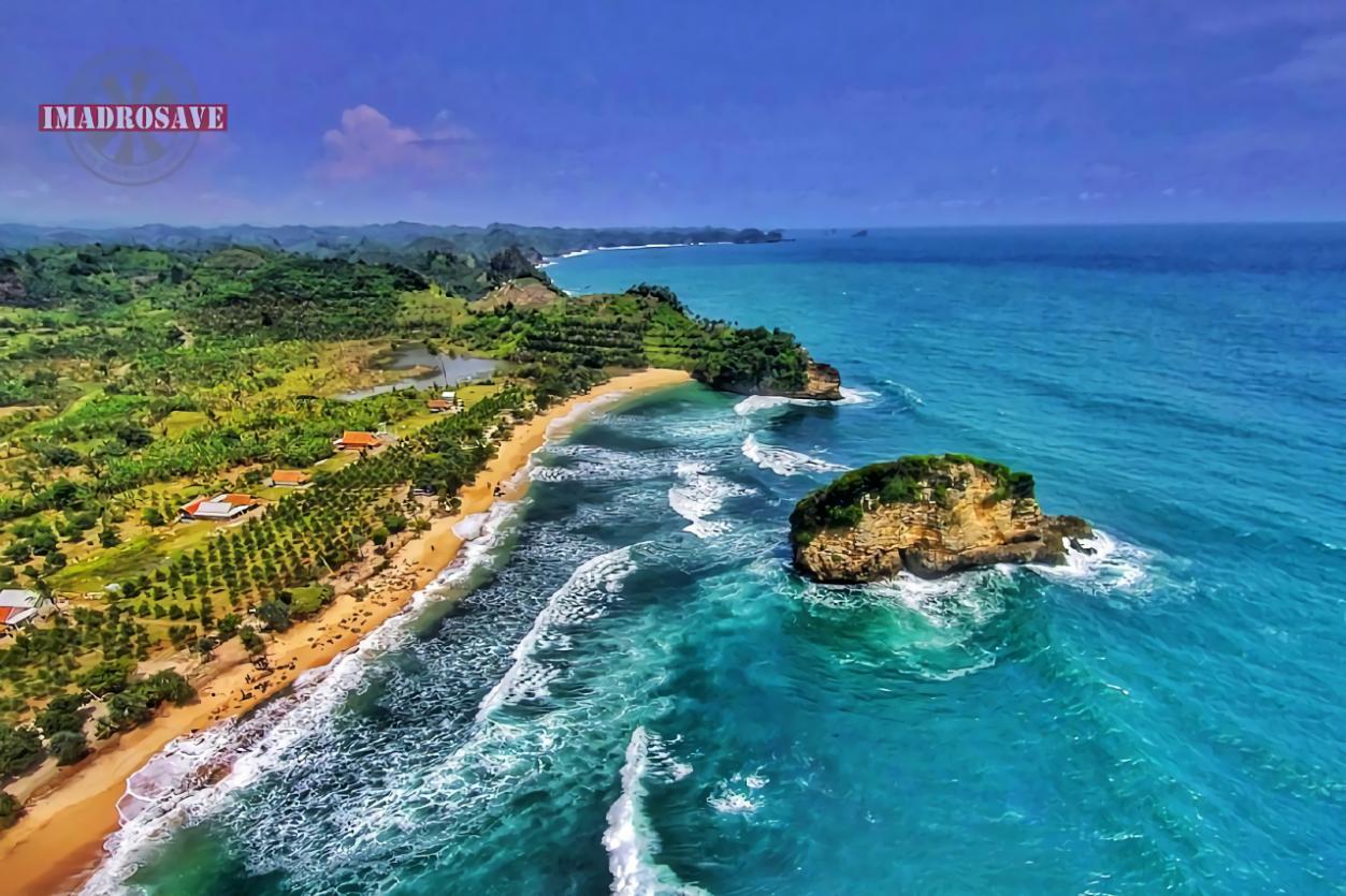 Teluk Bidadari Pantai Rante Melewati Mbehi Malang Ngudel Kab