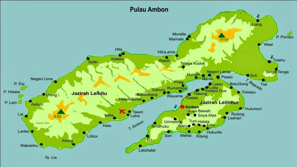 Kumpulan Tempat Wisata Ambon Maluku Gambar Peta Lengkap Terbaru Pantai