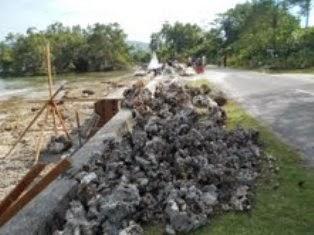 Diduga Pembangunan Pengaman Pantai Waisisil Tak Sesuai Bestek Tribun Maluku