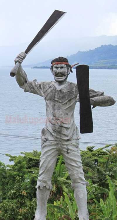 Patung Pahlawan Nasional Pattimura Ditempatkan Saparua Thomas Matulessy Bergelar Kapitan