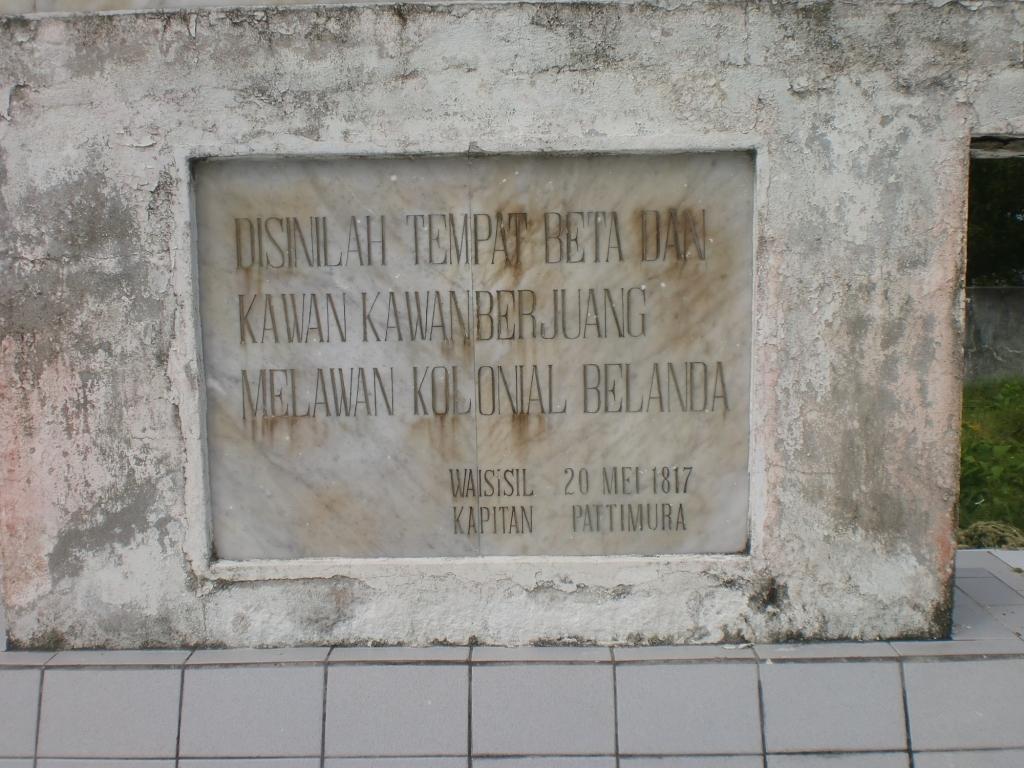 Ulliyography Menelusuri Jejak Semangat Juang Kapitan Salah Satu Bagian Monumen