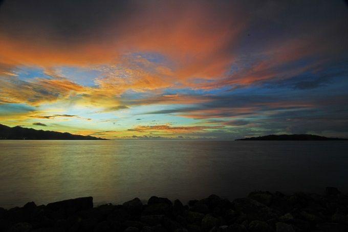 Senja Pantai Manakarra Mamuju Sulawesi Barat Foto Indonesia Travel Kab