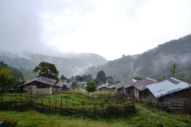Arfak Mountain Manokwari Lots Traditional Villages Thousand Legged Houses People