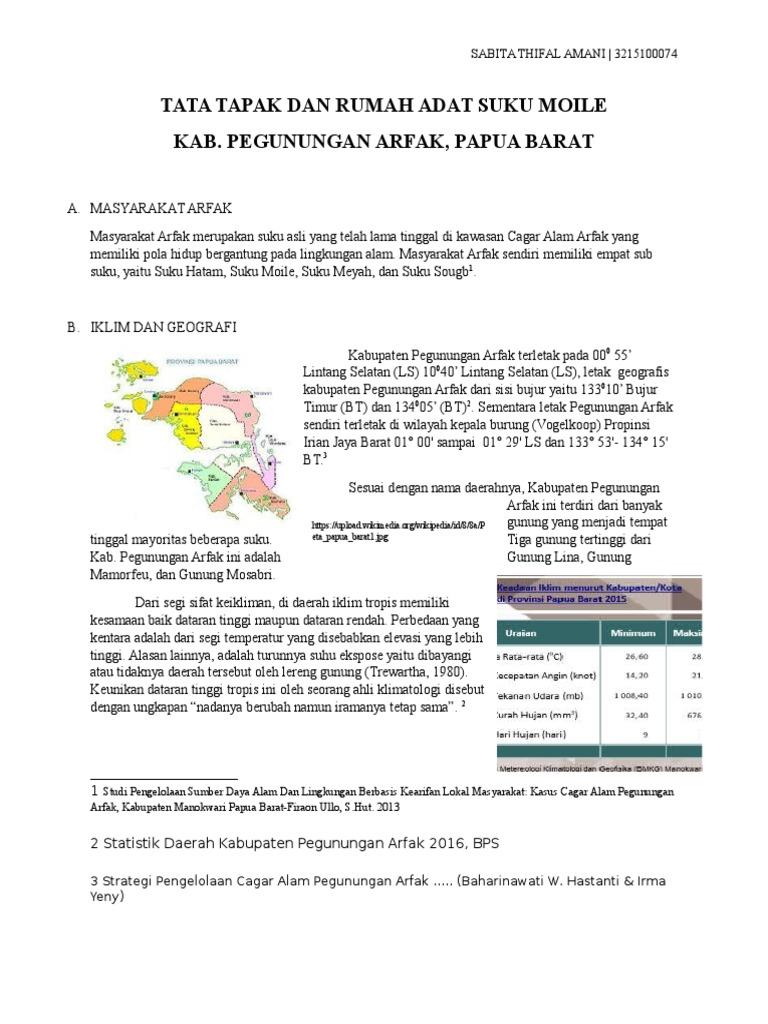 Suku Moile Papua Barat Cagar Alam Pegunungan Arfak Kab Manokwari
