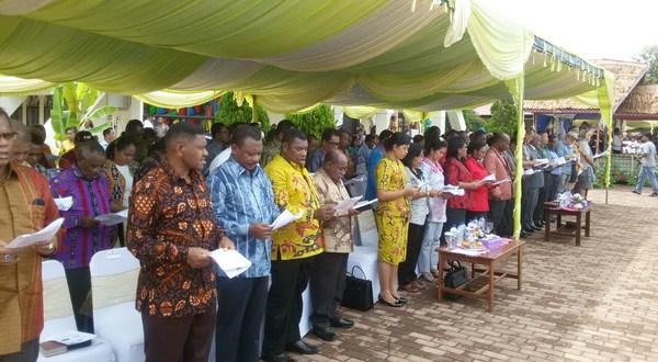 Bupati Hadiri Perayaan Pi 163 Pulau Mansinam Cahaya Papua Teluk