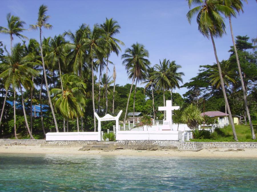 Mansinam Pintu Peradaban Papua Ko Sapa Salib Beton Terpacak Pinggir
