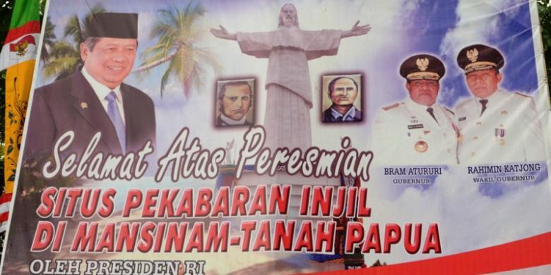 Presiden Resmikan Patung Yesus Kristus Pulau Mansinam Kompas Kab Manokwari