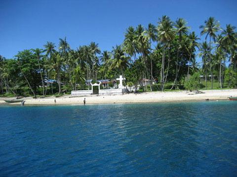 Pulau Mansinam Indonesian Foto 1 1pulau Salah Satu Tempat Bersejarah