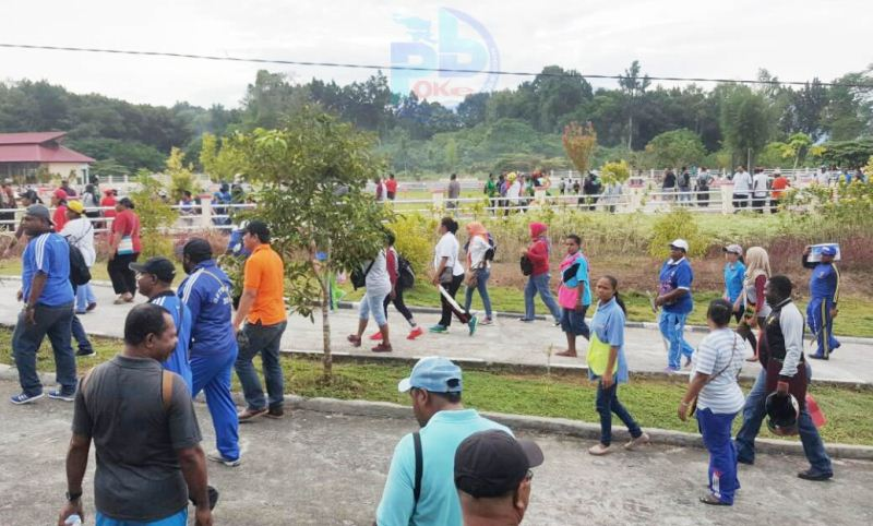 Sambut Hut Pi Ribuan Masyarakat Manokwari Kompak Jumat Bersih Berdatangan