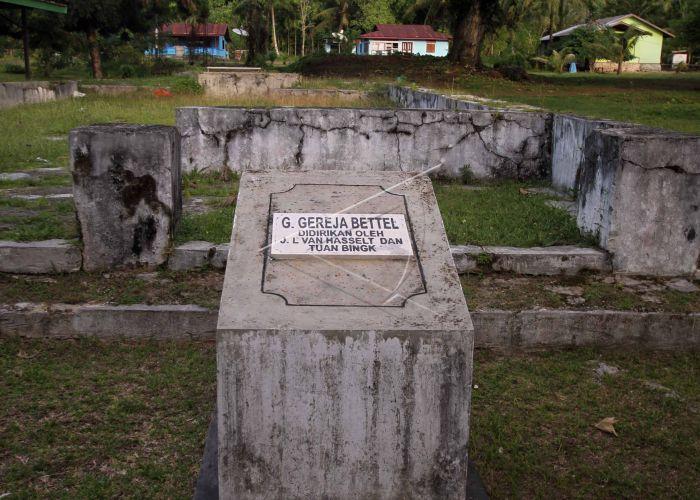 Sejarah Perkabaran Injil Papua Sisa Pondasi Bangunan Gereja Tersisa Pulau