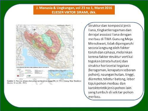 Struktur Keragaman Asosiasi Komunitas Tumbuhan Pemanjat Populasi Alam Merbau Taman
