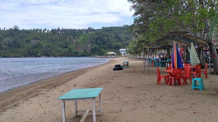 Pantai Lakban Sepi Pengunjung Tribun Manado Ratatotok Kab Minahasa Tenggara