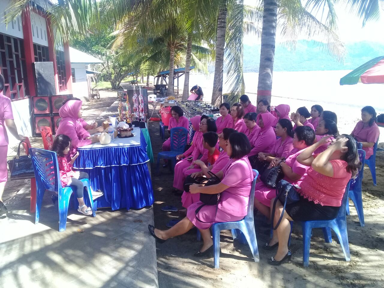 Tribratanewsminsel Bhayangkari Cabang Minsel Gelar Pertemuan Rutin Pagi Tadi Sabtu