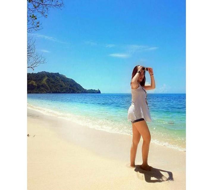 Pantai Bentenan Minahasa Tenggara Pasir Putih Kecoklatan Bersinar Taman Laut