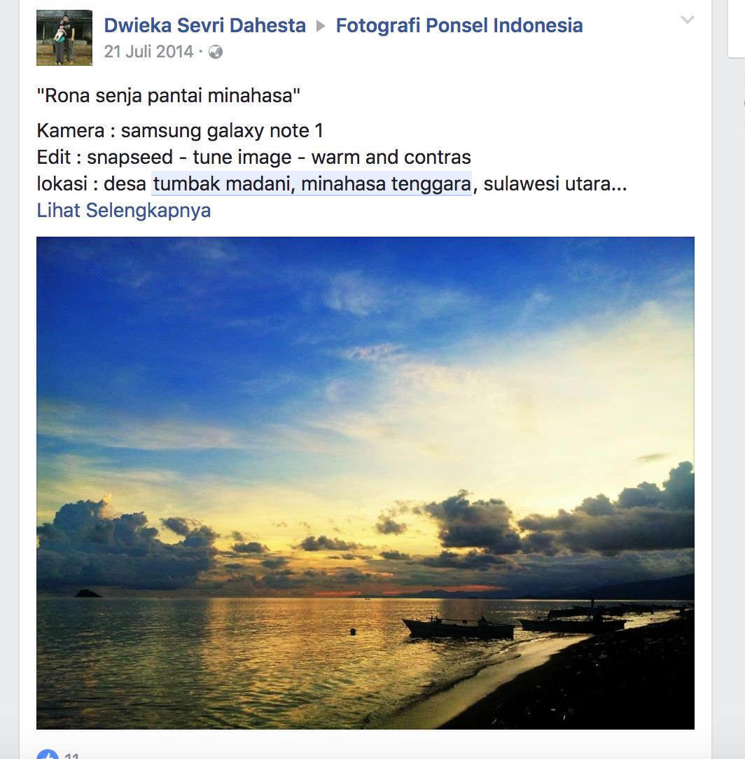 Tumbak Madani Facebook Desa Taman Laut Kab Minahasa Tenggara