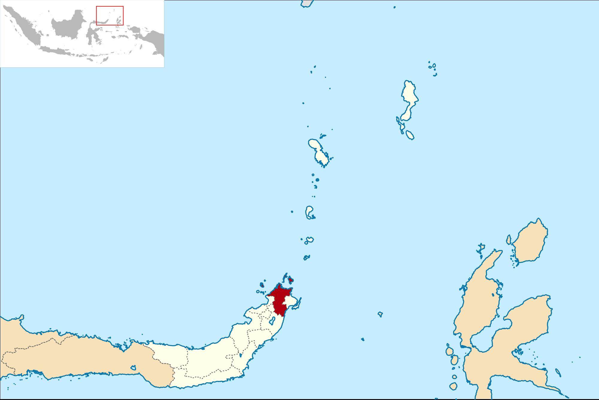 Kabupaten Minahasa Utara Wikipedia Bahasa Indonesia Ensiklopedia Lokasi Sulawesi Svg