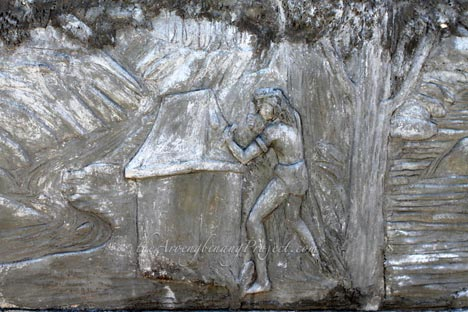 Relief Taman Purbakala Waruga Sawangan Situs Kab Minahasa Utara