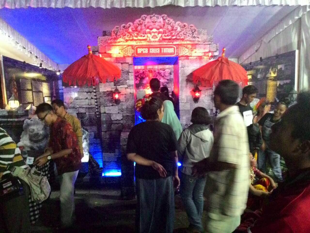 Pameran Museum Kabupaten Tulungagung Balai Pelestarian Cagar Tampak Depan Stand