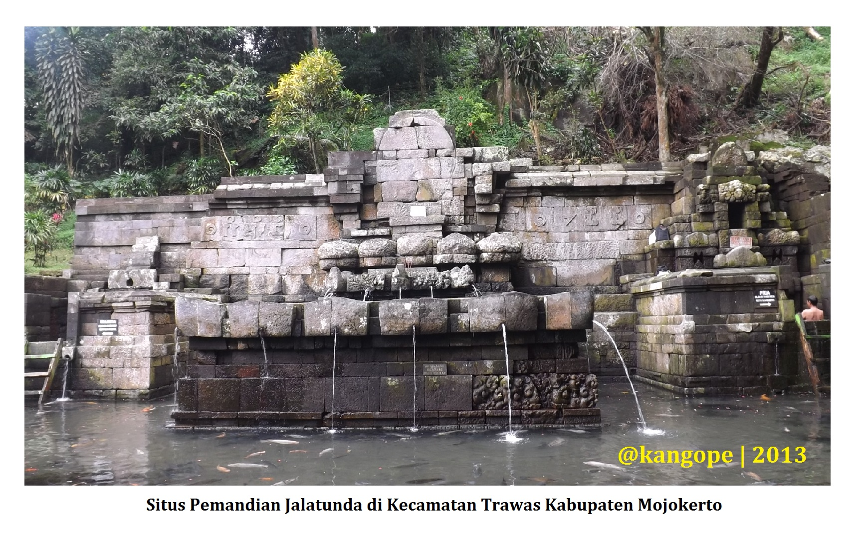 Mojokerto Corat Coret Kehidupan Pemandian Jalatunda Candi Jolotundo Kab