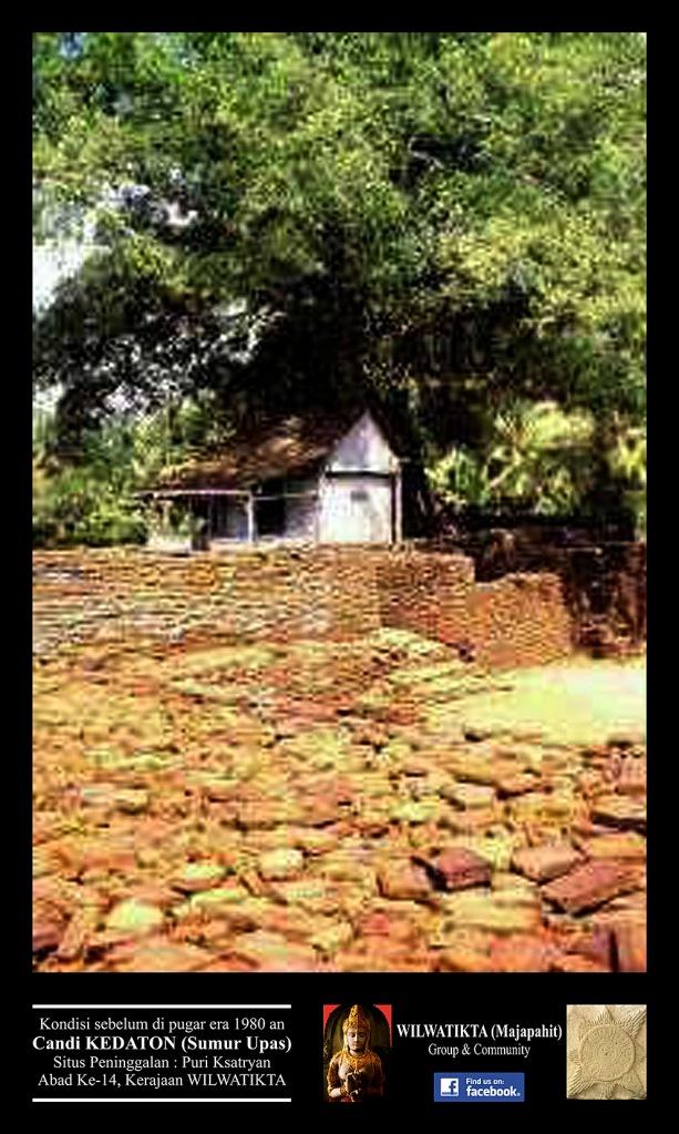 Sumur Upas Mojopahit Zone Bentuk Semi Asli Bangunan Candi Kedaton