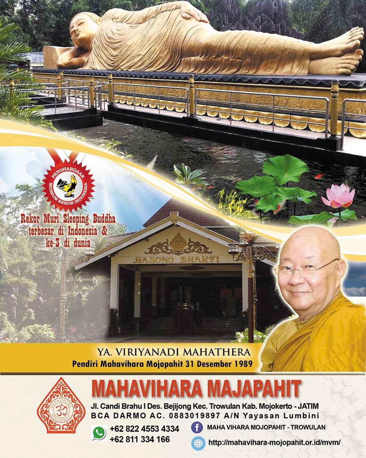 Mahavihara Mojopahit Kampung Wisata Budaya Trowulan Swaranews Dua Setelah Diresmikan