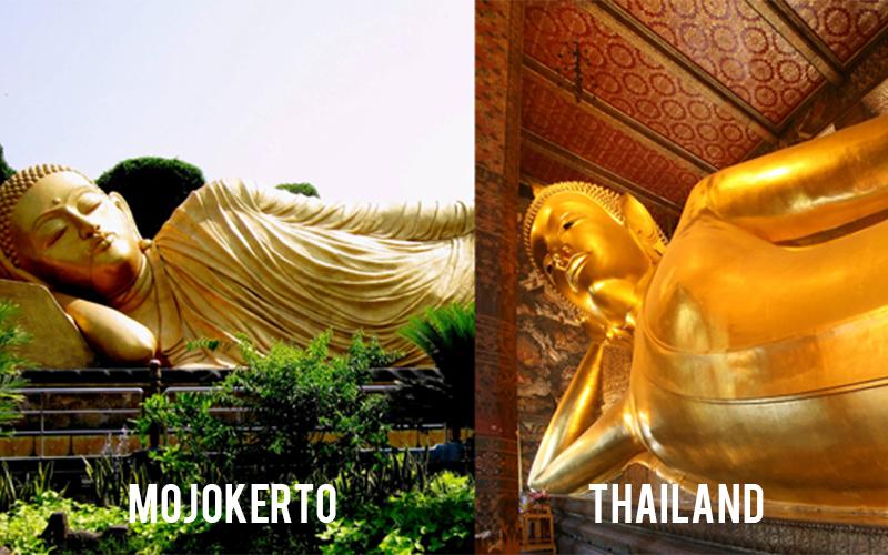 5 Tempat Wisata Indonesia Mirip Luar Negeri Patung Buddha Mojokerto