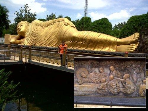 Maha Vihara Mojopahit Patung Budha Tidur Karya Anak Kab Mojokerto
