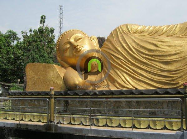 Patung Buddha Tidur Satu Mojokerto Lho Pesona Keberadaan Dibangun Kompleks