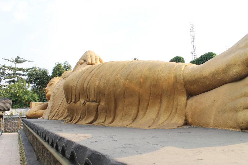 Patung Buddha Tidur Trowulan Mojokerto Bocah Petualang 003 Budha Kab