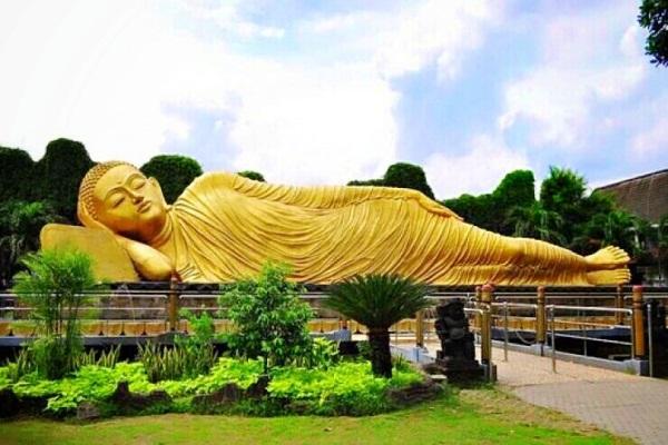 Wisata Mojokerto Patung Buddha Tidur Sleeping Trowulan Budha Kab
