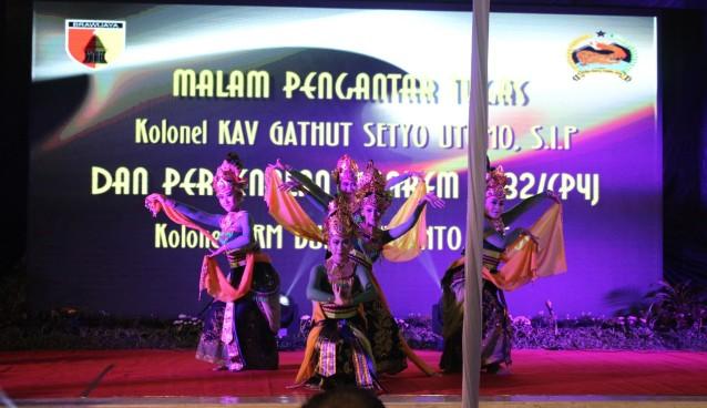 Kapolres Mojokerto Kota Hadiri Kegiatan Malam Pengantar Tugas Danrem 082