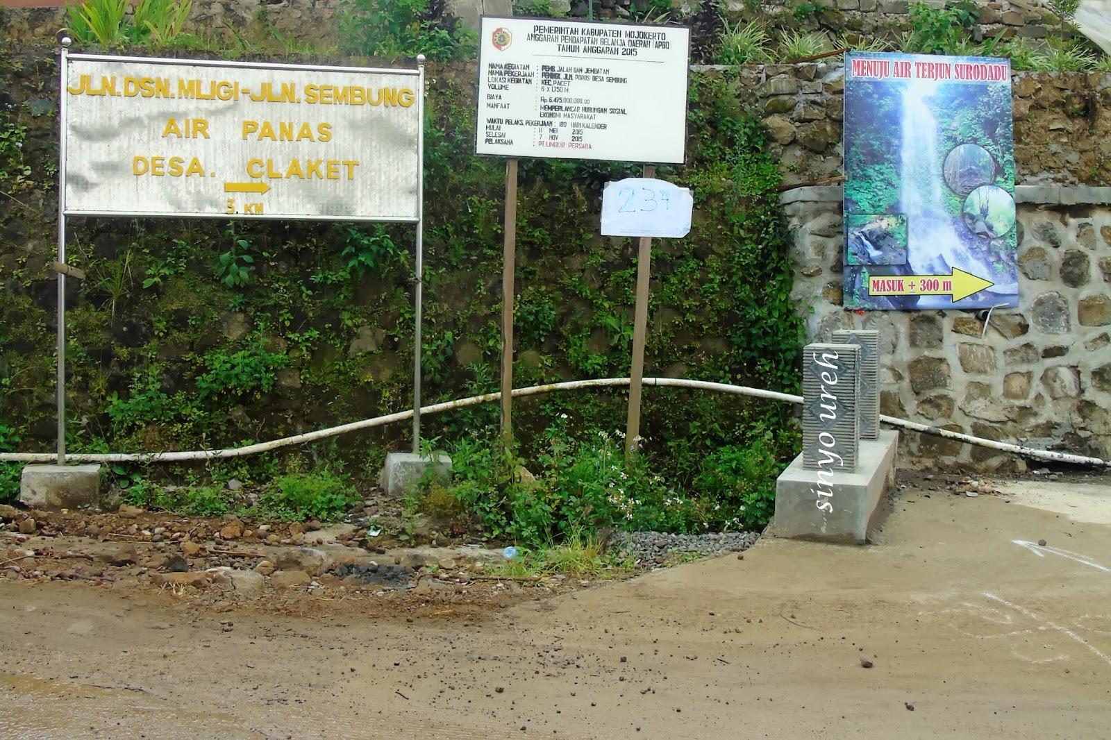 Trip Air Terjun Surodadu Pacet Mojokerto Pertigaan Claket Arah Dusun