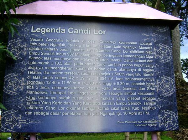 Legenda Candi Lor Nganjuk 080309 Penjelasan Dinas Flickr Pariwisata Kebudayaan
