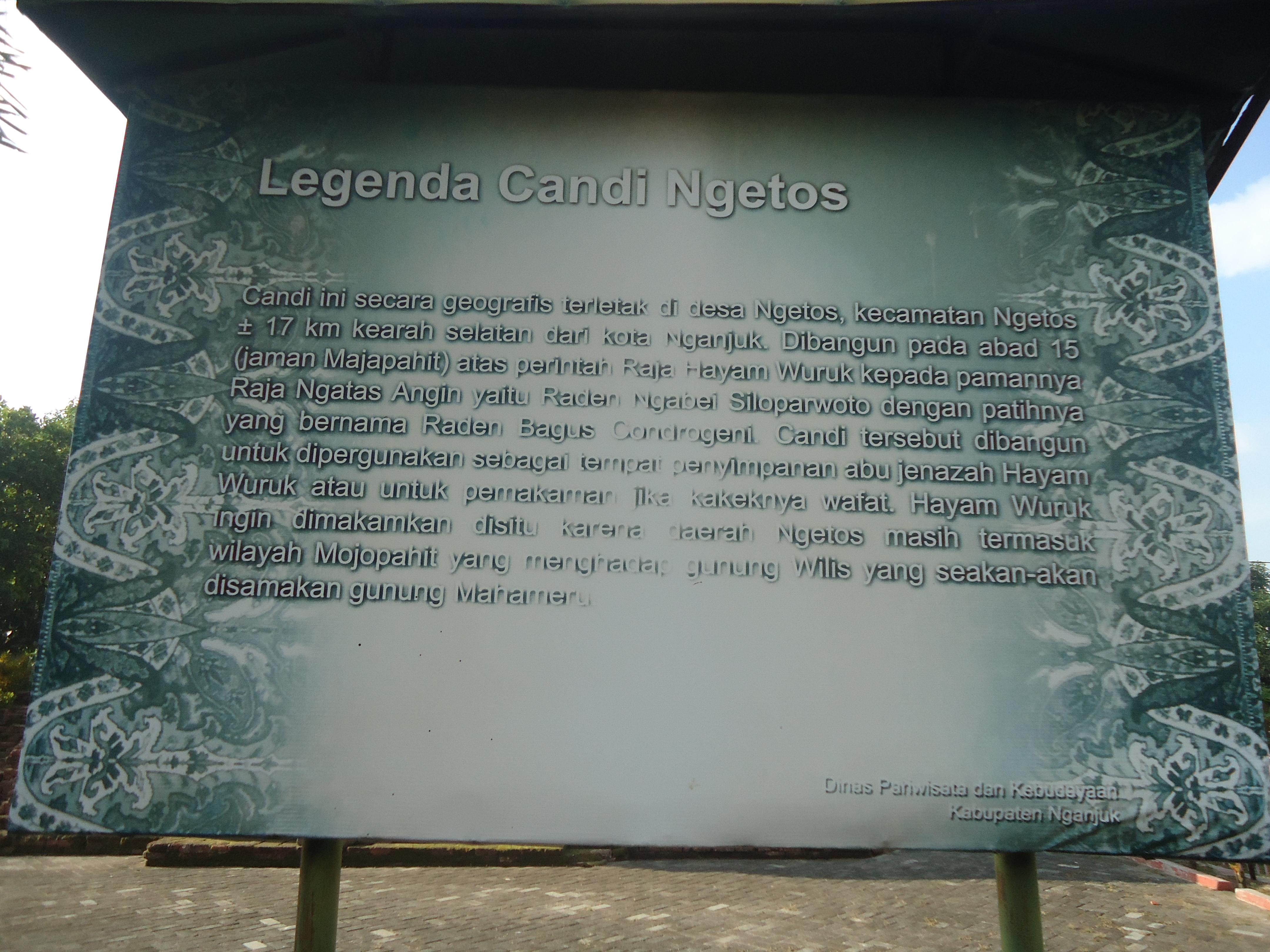 Nganjuk Kerajaan Majapahit Candi Ngetos Museum Online Papan Legenda Lor