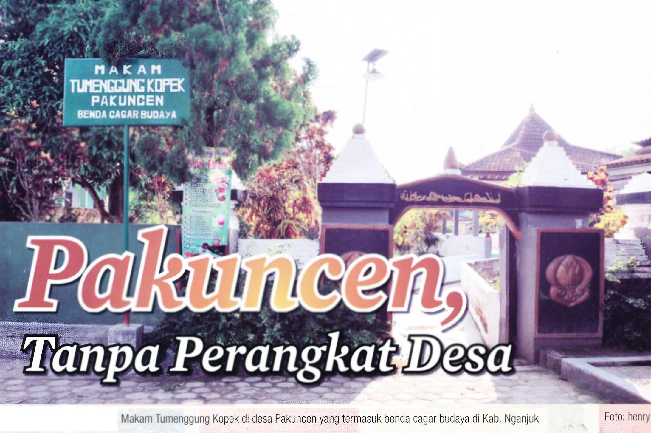 Makam Temenggung Kopek Kabupaten Nganjuk Pusaka Jawatimuran Desa Pakuncen Kecamatan