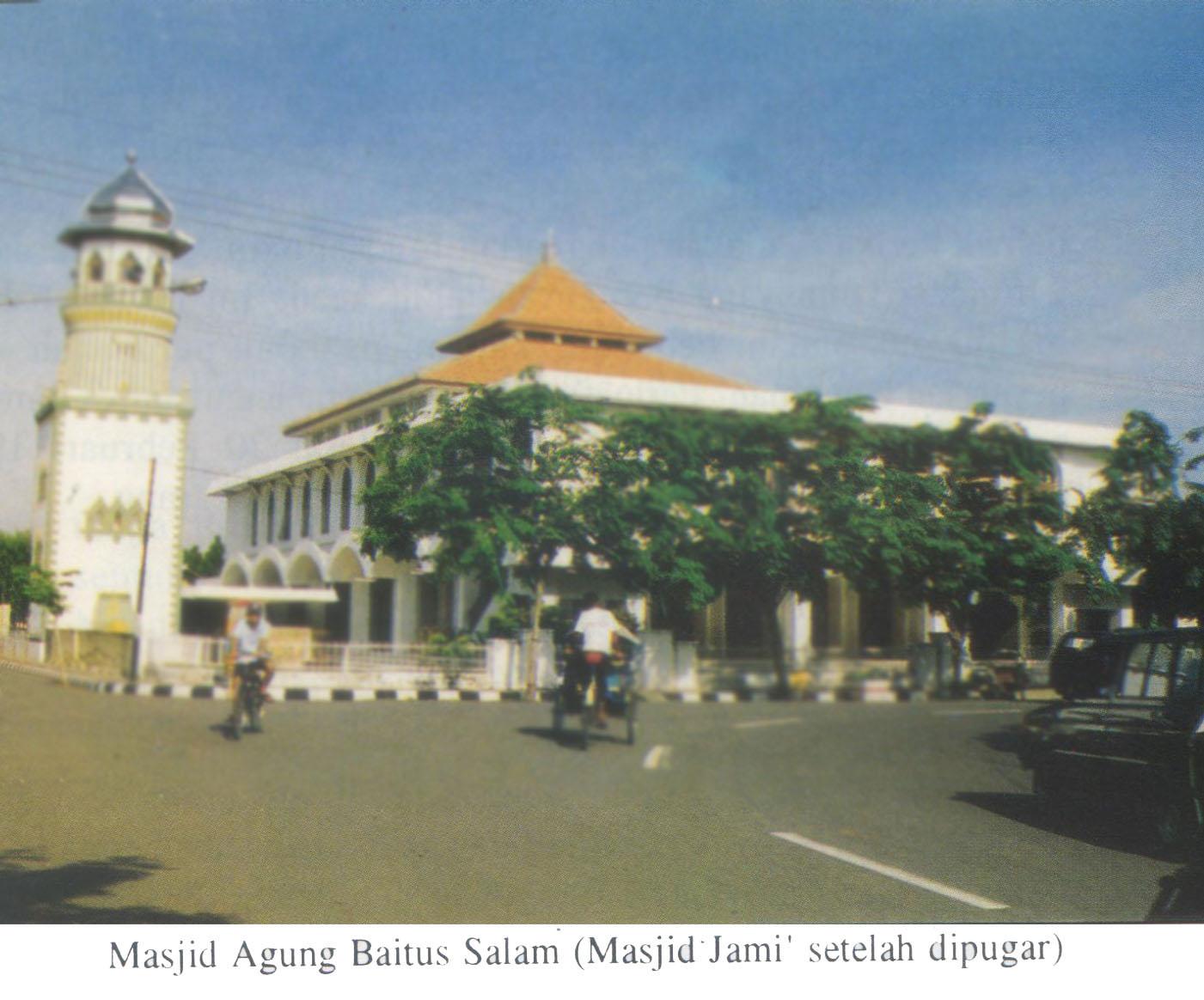Masjid Agung Baitus Salam Kabupaten Nganjuk Pusaka Jawatimuran Kebun Teh