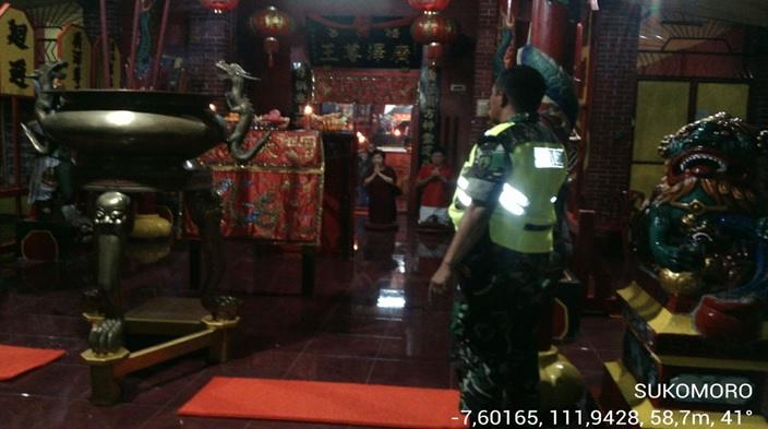 Babinsa Amankan Perayaan Imlek Nganjuk Portal Pelopor Klenteng Hok Yoe