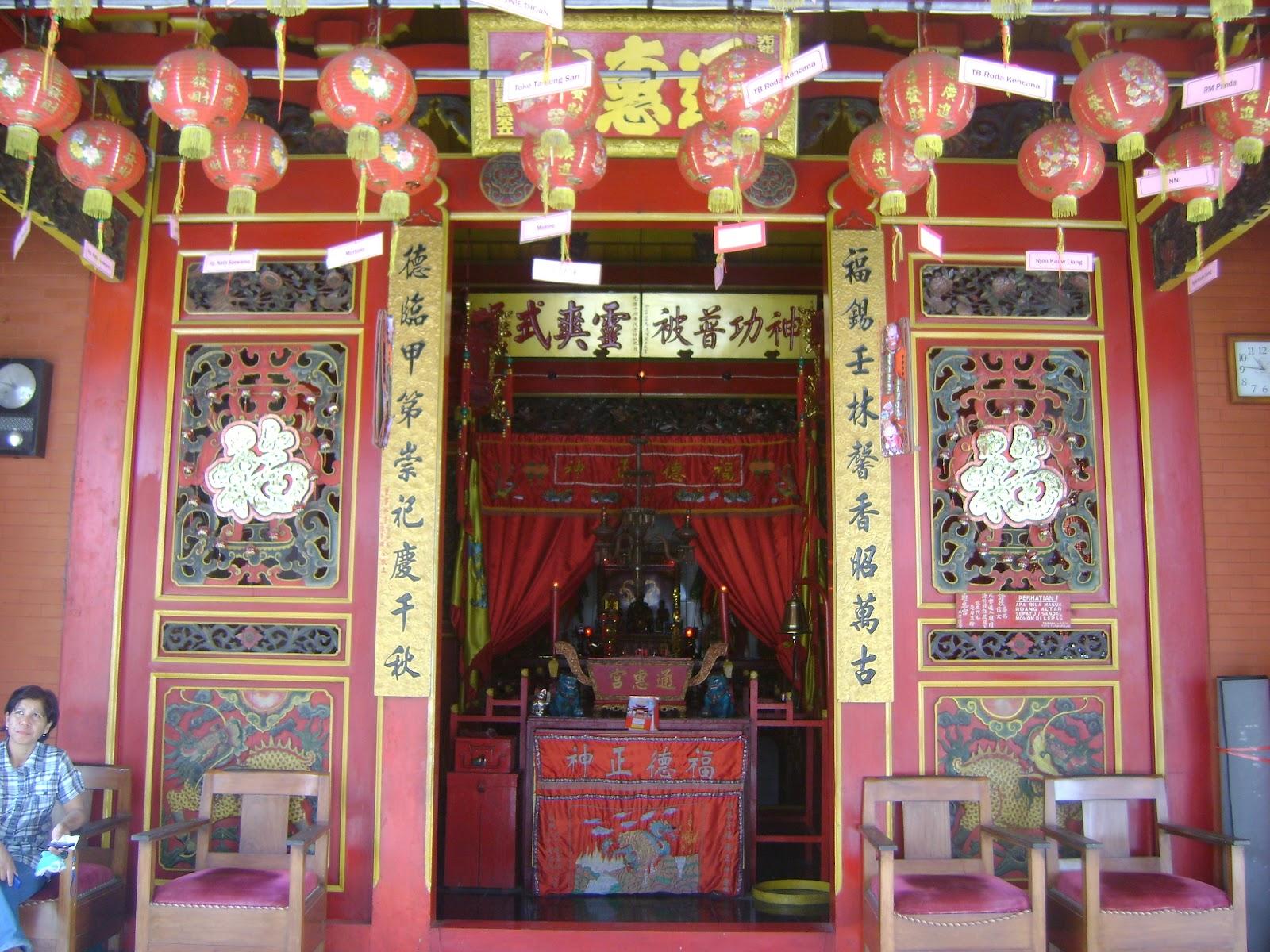 Klenteng Thong Hwie Kiong Kekunaan Terdapat Sebuah Arca Dewa Umurnya