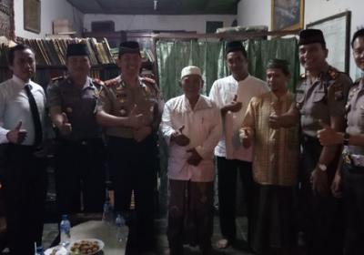 Yoni Kuno Masjid Al Mubarok Nganjuk Rombongan Kapolres Sambangi Ponpes