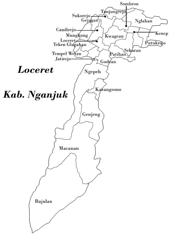 Kecamatan Loceret Kab Nganjuk Signoutnow Berada Diwilayah Tepatnya Wilayah Tengah