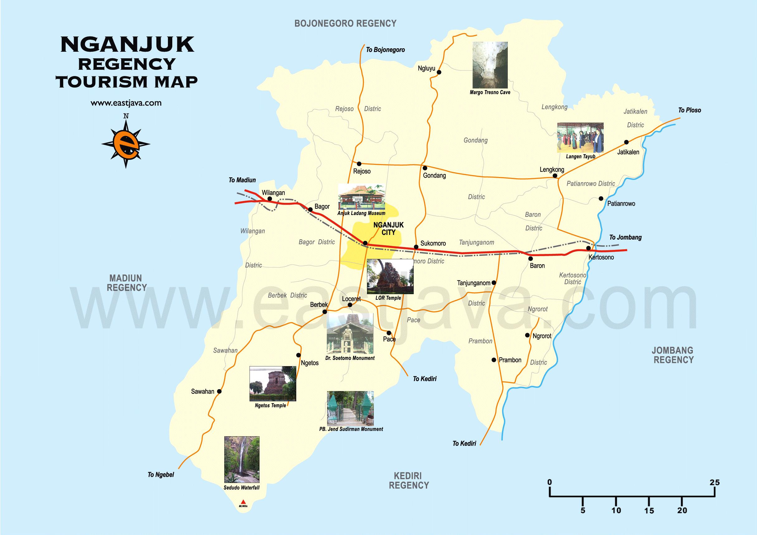 Mengenal Kota Nganjuk Francichandra Blog Kabupaten Monumen Geriliya Jenderal Sudirman