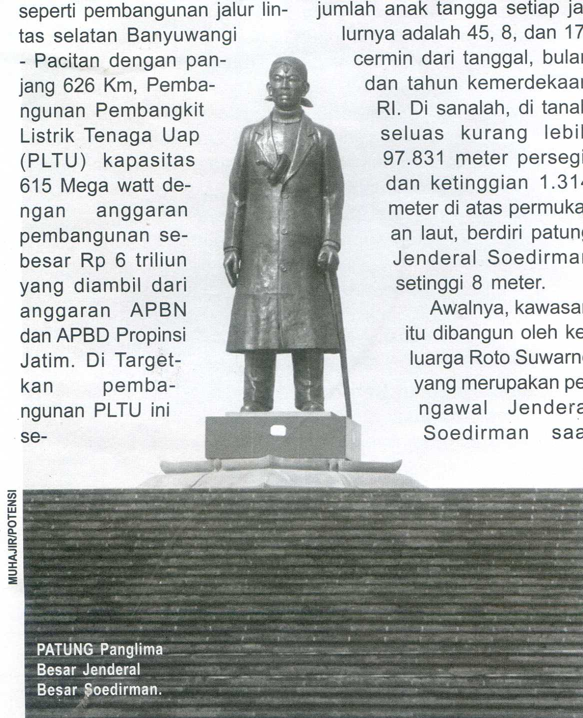 Monumen Jenderal Soedirman Pacitan Pusaka Jawatimuran Geriliya Sudirman Kab Nganjuk