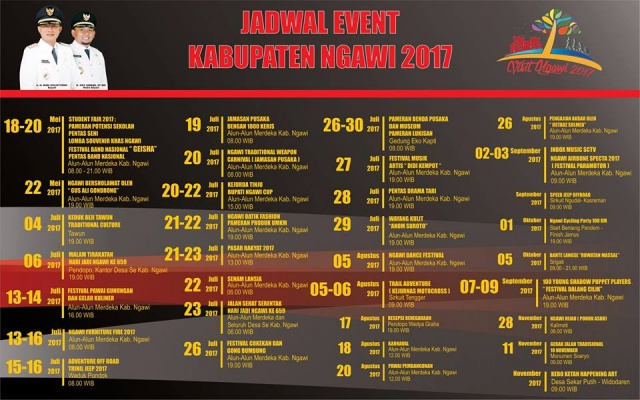 Inilah Jadwal Event Ngawi Bulan Juli November 2017 Alun Kab